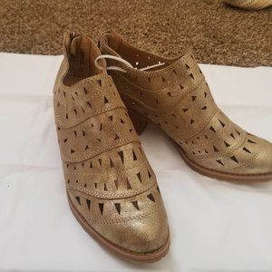 SONOMA GOODS FOR LIFE Gold glitter ankle boots